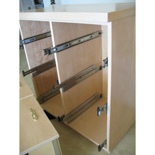 Maple Cabinet & Hutch - Image 8 of 8