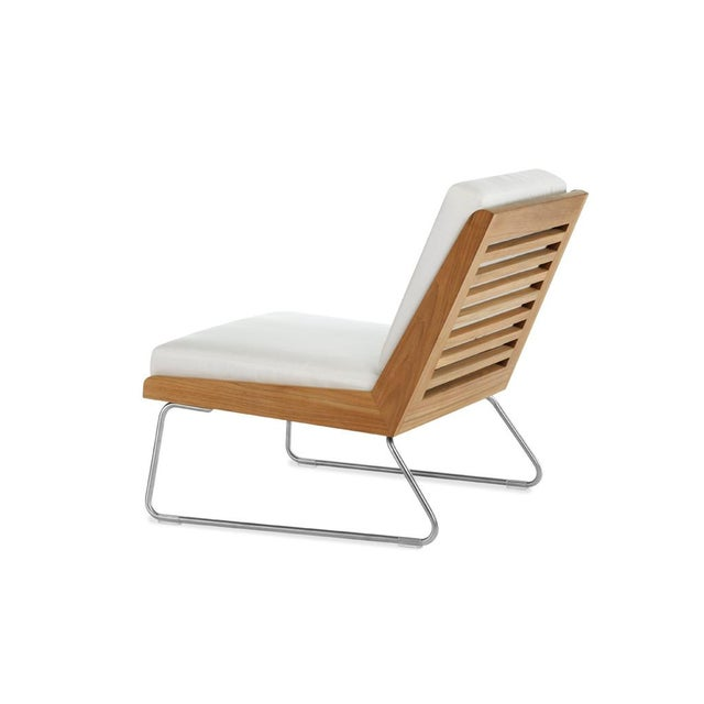 Contemporary Summit Furniture Boomerang Slipper Chair For Sale - Image 3 of 3