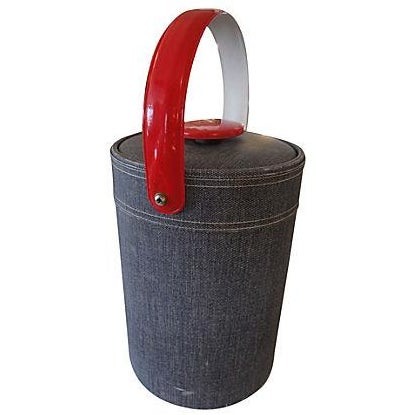 Georges Briard Faux Denim Ice Bucket - Image 1 of 4