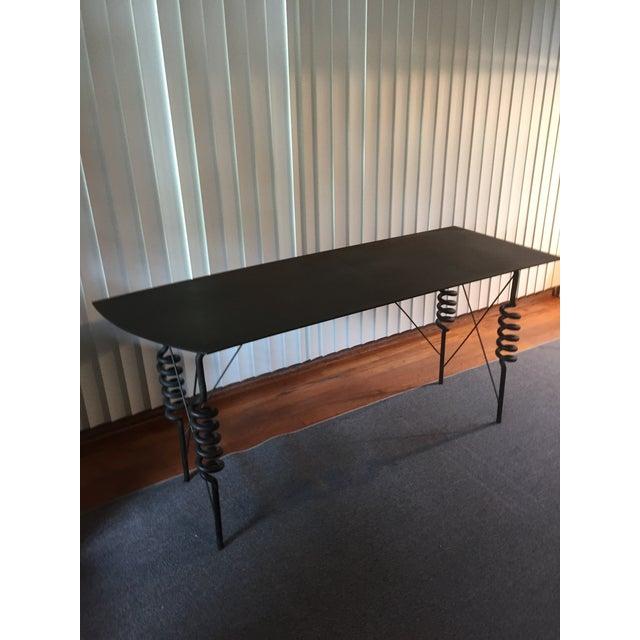 Masaki Morita Metal Desk / Hall Table C 1982 - Image 2 of 11