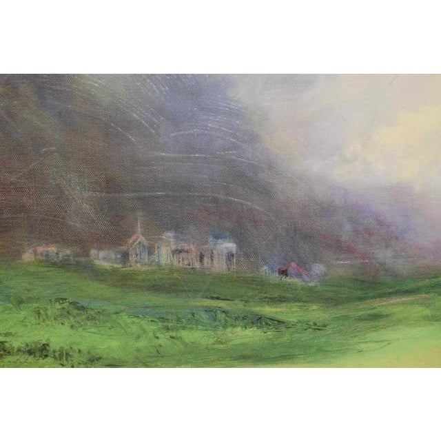 Traditional Framed Print and Painting, City Beyond the Green by M. Pearson For Sale - Image 3 of 6