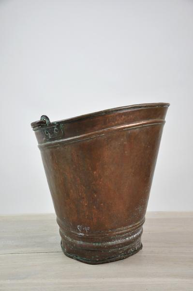 antique french copper coal umbrella holder | chairish Copper Umbrella Holder