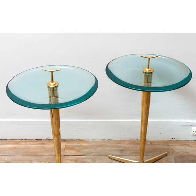 Mid-Century Modern Pair of Side Tables by Poggi Circa 1990 For Sale - Image 3 of 7