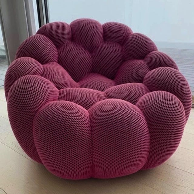 A well designed piece can be full of contradictions and still come into form as a unified vision. The 'Bubble' swivel...