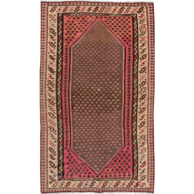 "Apadana - Vintage Persian Kilim Rug, 5'8"" x 9'2"" For Sale"