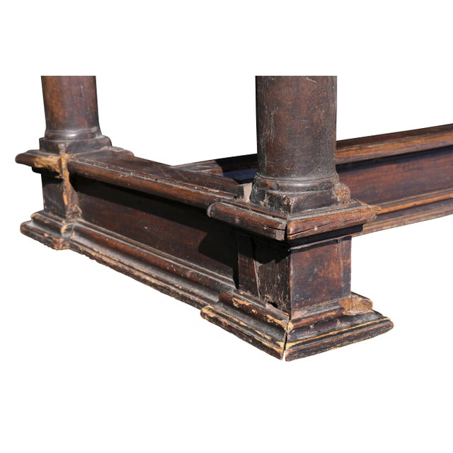 Brown Italian Baroque Walnut Side Table For Sale - Image 8 of 12