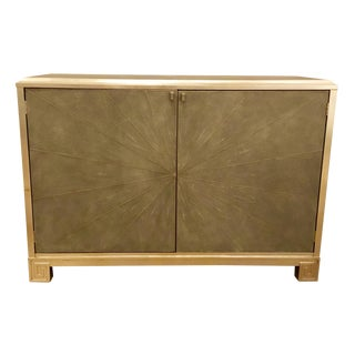 Modern Maitland-Smith Metal and Wood Shagreen Chest