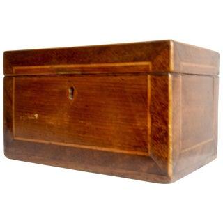 Mid-19th Century American Walnut Tea Caddy For Sale