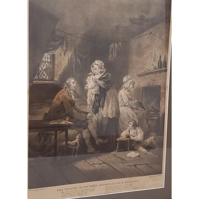 18th Century George Morland Hand Colored Mezzotints Published by T. Simpson, London 1789 For Sale - Image 4 of 13
