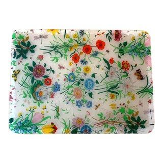 Gucci V Accornero Lucite Floral Tray For Sale