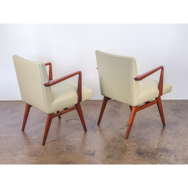 Jens Risom Model 108 Walnut Side Chairs - Image 5 of 11