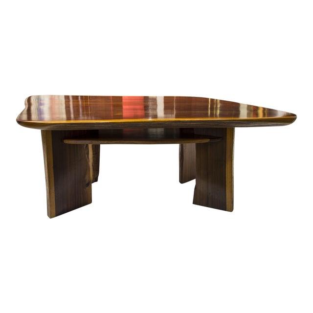 Rare Brazilian Table in Jacaranda From 1980's For Sale