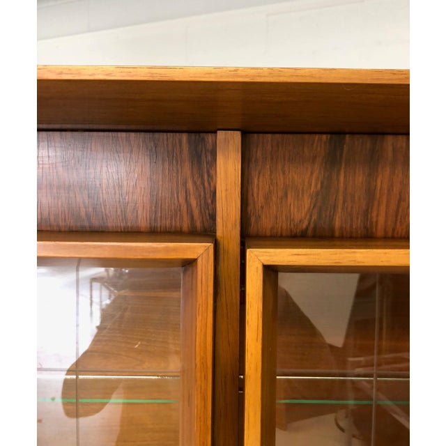 Ceramic Mid Century Modern Atomic Credenza and Hutch Display For Sale - Image 7 of 11
