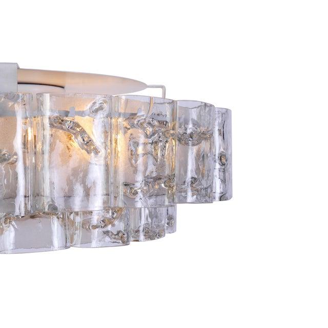 Transparent Mid-Century Modernist Doria Flush Mount For Sale - Image 8 of 10