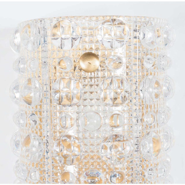 Orrefors Gorgeous Mid-Century Modernist Handblown Glass Sconce by Orrefors For Sale - Image 4 of 6