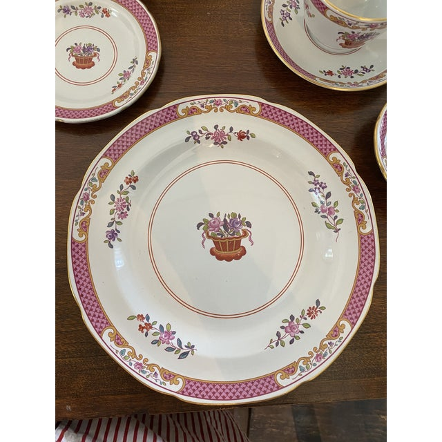 Chinese Spode China Lord Calvert Pattern Service for 8 Dinnerware - 60 Piece Set For Sale - Image 3 of 12