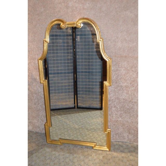 Gold Vintage Palladio Italian Shaped Wall Mirror For Sale - Image 8 of 11