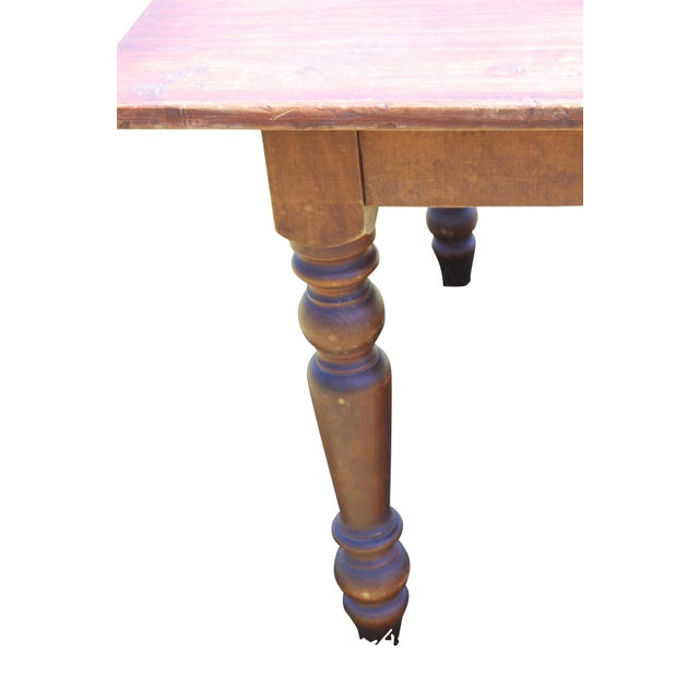 Large Rustic Farm Table For Sale - Image 4 of 12