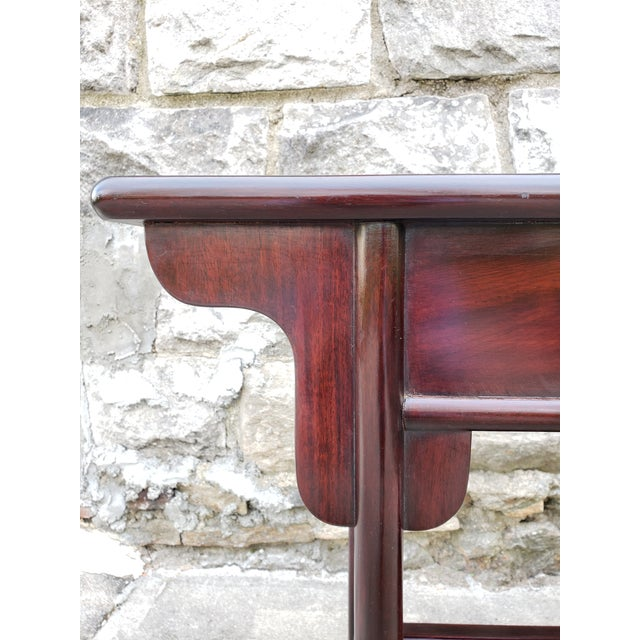 Vintage Asian Rosewood Console Table For Sale In New York - Image 6 of 13