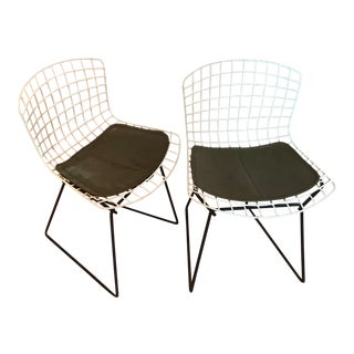 Mid-Century Modern Bertoia Knoll Two Tone Wire Child's Youth Original Chair – a Pair