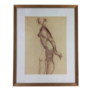 1940s Abstract Figurative Female Nude by Rudolf Hess For Sale