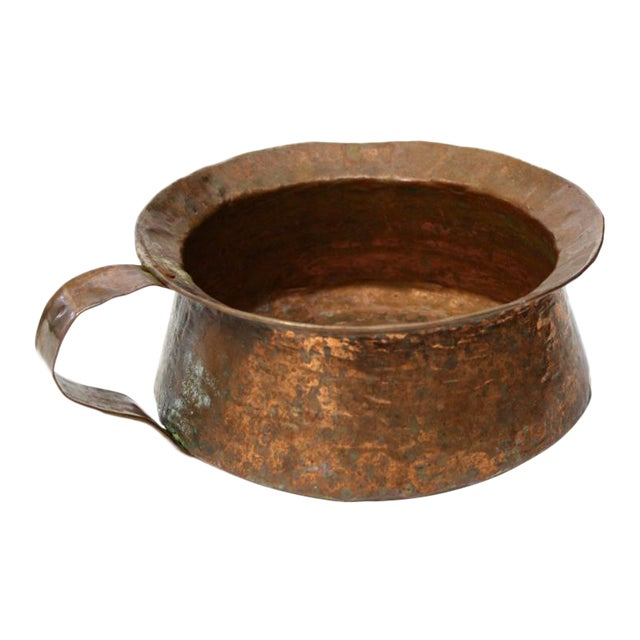 Hammered Copper Pot with Handle - Image 1 of 5