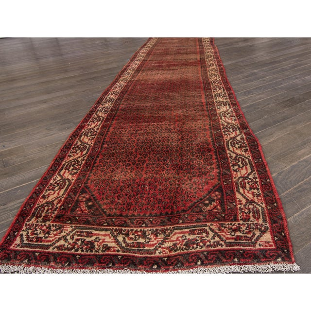 "Apadana - Vintage Persian Hamadan Rug, 2'7"" x 16' - Image 6 of 6"