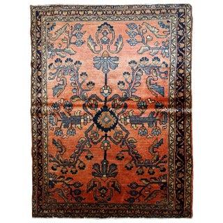 1920s Handmade Antique Persian Lilihan Rug 3.5' X 5.4' For Sale