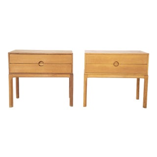 Danish Oak Night Stands by Aksel Kjersgaard - a Pair For Sale