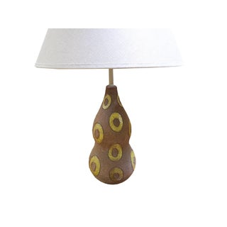 Mid-Century Modern Italian Textured Ceramic Lamp by Ugo Zaccagnini, 1950s Preview