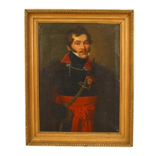 19th Century Russian Gentleman in a Black Coat Portrait For Sale