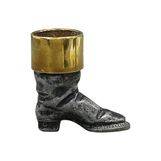 Antique English Riding Boot Match Strike For Sale