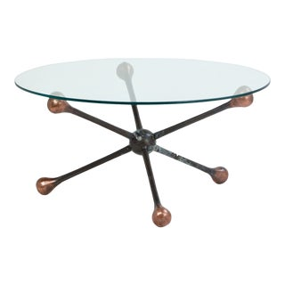 Iron Baton Round Coffee Table For Sale