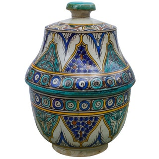 Antique Andalusian Ceramic Box For Sale