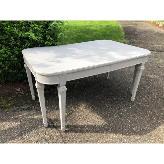 Wood Swedish Gustavian Dining Table For Sale - Image 7 of 7