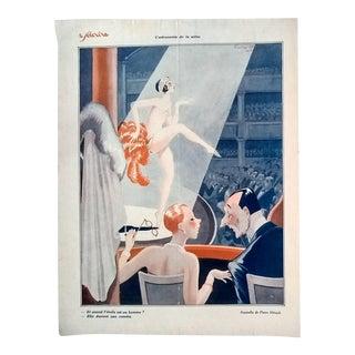"""Pierre Herault 1928 """"L'Astronomie De La Scene"""" Le Sourire Print"""