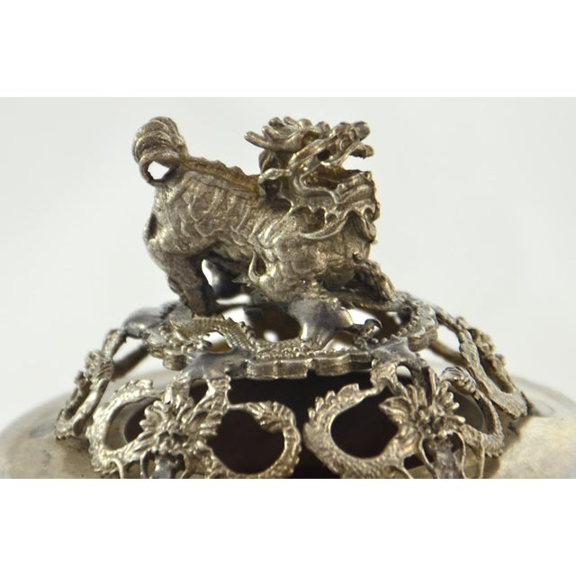 Silver & Pink Onyx Foo Dog Censor - Image 2 of 9