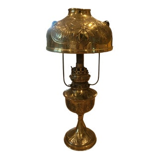 Antique Brass Table Lamp For Sale
