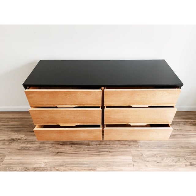 Mid Century Modern Harmony House Black + Natural Wood Dresser For Sale In New York - Image 6 of 11