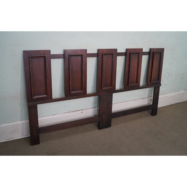 Mid Century Modern Walnut Floating Panels King Size Headboard AGE/COUNTRY OF ORIGIN: Approx 50 years, Canada...
