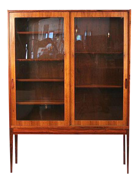 Vintage Danish Rosewood U0026 Glass Cabinet For Sale Glass Cabinet For Sale S5