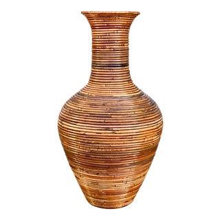 Vintage Monumental Pencil Reed Vase For Sale