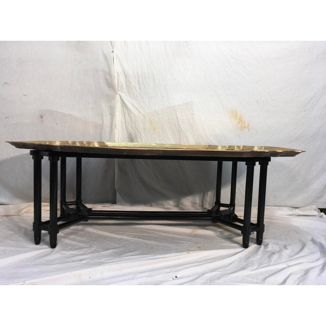 Baker Furniture Brass Tray Table - Image 4 of 10