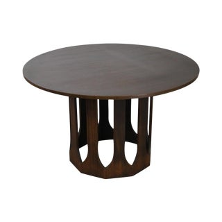 Harvey Probber Mid-Century Round Walnut Dining Table