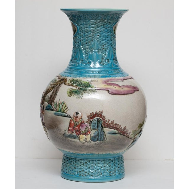 Early 20th C. Carved Famille Rose Vase - Image 8 of 11