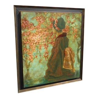 Cherry Blossom by Jill O'Flannery Giclee Picture, Signed & Framed For Sale