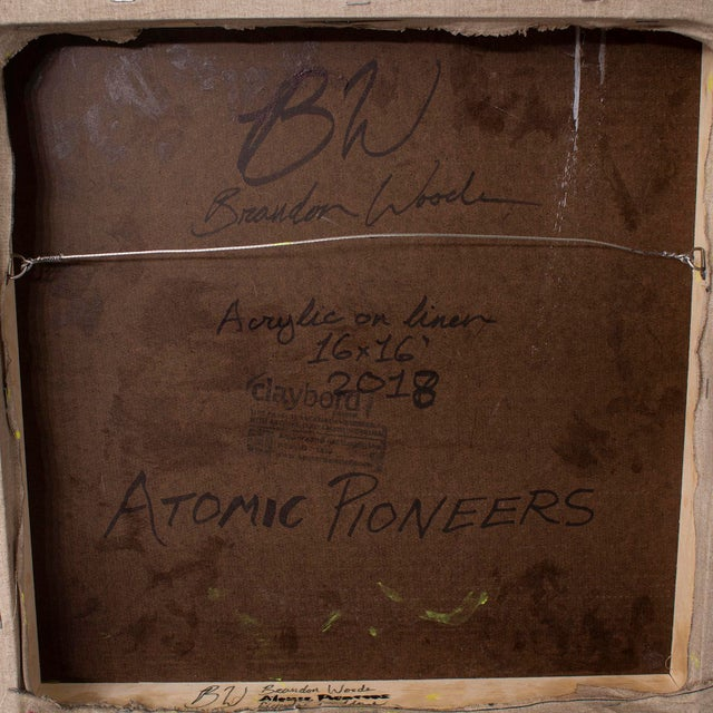 "Brandon Woods ""Atomic Pioneers"" Contemporary Abstract Painting For Sale - Image 6 of 7"