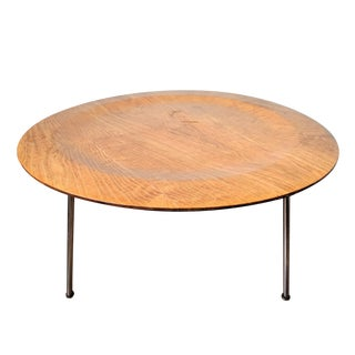 Minimalist Charles Eames Round Plywood Coffee Table For Sale