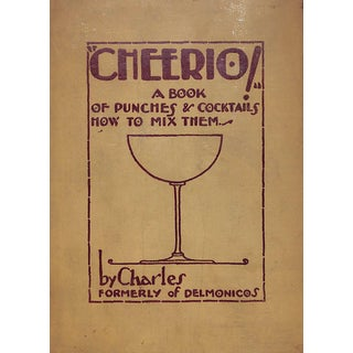 """""""Cheerio!: A Book of Punches & Coktails How to Mix Them"""" Recipe Book For Sale"""