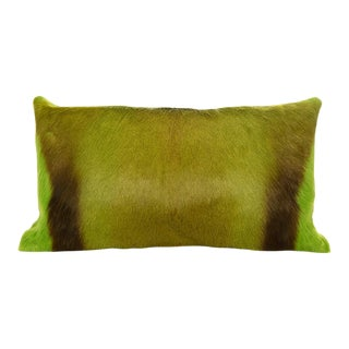 Modern Springbok Pillow in Lime 18x10 For Sale